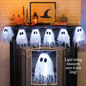 LED Lighted Halloween Ghost String Lights