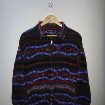 ee29adf9a0a8f New Year Sale Vintage Patagonia Fleece Aztec Southwest Full Prin
