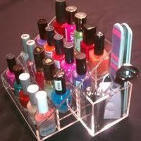 nail polish rack stand display acrylic storage holder clear