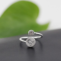 925 Sterling Silver 12 Constellation Ring (Leo)