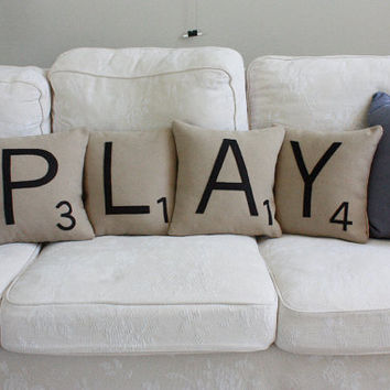 PLAY Letter Pillows - Inserts Included