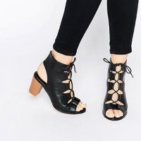Oasis | Oasis Lace Up Block Heeled Sandal at ASOS