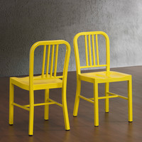 Lemon Metal Side Chairs (Set of 2) | Overstock.com Shopping - The Best Deals on Dining Chairs