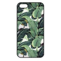 Vogueline Tropical Banana Tree Leaves Design Hard Case Cover Skin for iphone 6 case iphone 6plus iphone 5 5s 4 4s iphone 5c Samsung Galaxy S5 S3 S4 note 2 note3 note4 (Case for iPhone 5/5s(Black Hard))