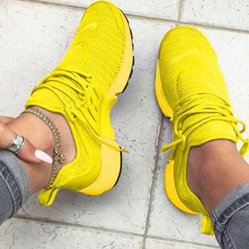"Copy of ""NIKE""Yellow Air Presto Women Men Fashion Running Sport Casual Shoes Sneakers"