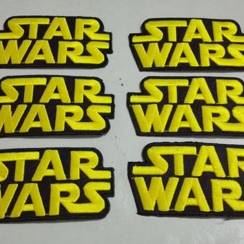 Star Wars Force Episode 1 2 3 4 5 Newest  Embroidered Iron On Patches, Classic Movie Badge Fabric Jacket Sticker/Lable ,Clothing DIY Accessories AT_72_6