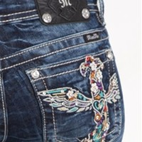 Miss Me Bootcut Jeans with Colorful Cross Pocket Sizes 25-32 JP5998B