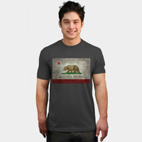 California Republic State Flag T Shirt By Bruzer Design By Humans