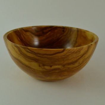Olive Wood Bowl, Serving Bowl, Salad Bowl, Fruit Bowl, Dry Nuts, 16.5cm