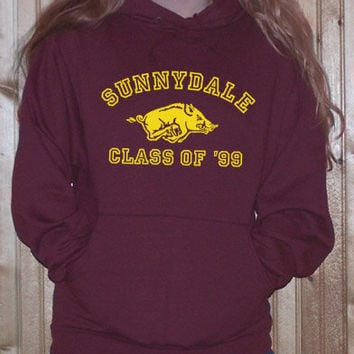 buffy the vampire slayer sunnydale CLASS OF 99  HOODIE sweat shirt