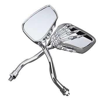 Skull Hand Claw Side Rear View Mirrors 8mm 10mm