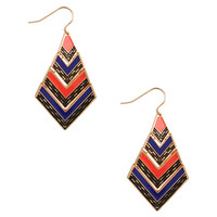 Colorblocked Tribal Inspired Earrings