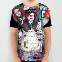 TIM BURTON TEA PARTY All Over Print Shirt by VinceGabriel | Society6