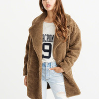 Womens Teddy Coat | Womens Jackets & Coats | Abercrombie.com