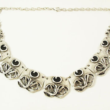 ELEGANT BOHOTANIC NECKLACE Antique Silver plated Chocker Boho authantic Necklace, Gypsy Tribal statement Ethnic Turkish Vintage  Necklace