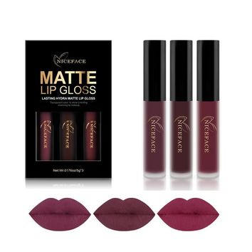 3 Piece Liquid Lipstick Set Long-Lasting Matte