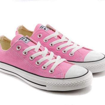 Converse Girl Boy Fashion Canvas Flats Sneakers Sport Shoes Low tops Pink