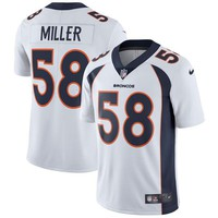 Men's Denver Broncos Von Miller Nike White Vapor Untouchable Limited Player Jersey