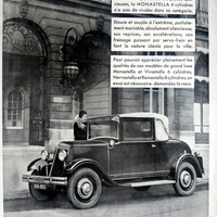 RENAULT poster, vintage advertising, original art deco ad, retro poster A3 from French magazine L'Illustration 1931, car poster Renault ad
