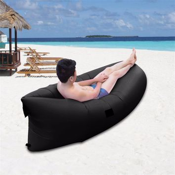 Ultra-light Outdoor Inflatable Lounger Bag Lazy Air Sofa Waterproof Fast Inflated Air Chair Ideal For Camping Picnics Beach