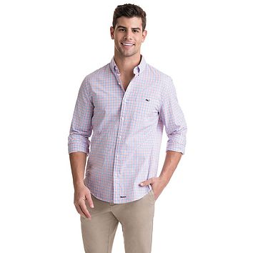 Slim Tipsy Turtle Tucker Shirt in Peachy by Vineyard Vines