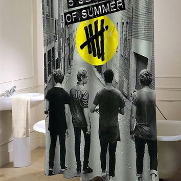 5 second of summer last boys custom shower curtain for bathroom ideas