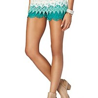 Ombre Crochet Tiered Short