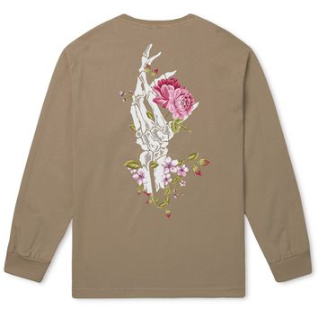 HUF - LA VIE EN ROSE OVER DYE LS TEE \\ TAN