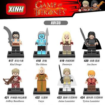 Game of Thrones Jon Snow Lord Varys Khai Drogo Joffrey Baratheon Daenerys Jaime Lannister Building Blocks Bricks Kids Toys X0135