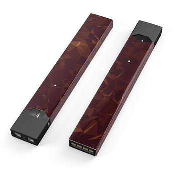 Skin Decal Kit for the Pax JUUL - Brown and Copper Abstract Geometric Shapes