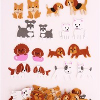 dog sponge sticker sack flake stickers - Sticker Sacks - Sticker - Stationery