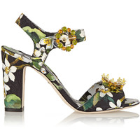 Dolce & Gabbana - Embellished brocade sandals
