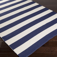 Newport Area Rug | Blue Stripes Rugs Hand Woven | Style NPT4003