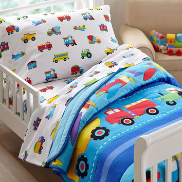 Olive Kids Trains, Planes, Trucks Toddler Comforter - 35410
