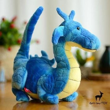 Blue Dragon Stuffed Animal Plush Toy 7""