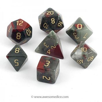 Bloodstone Dice Set | Awesome Dice