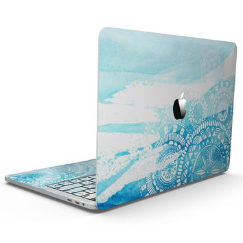 Vivid Blue Abstract Washed - MacBook Pro with Touch Bar Skin Kit
