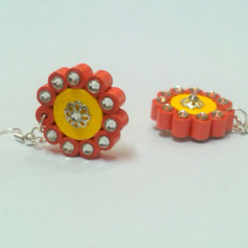 Paper Earring - quilled Chakra earring