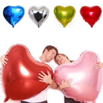 1PC Oversized 75cm Decorations Balloons Marriage Ballons Wedding Party Happy Birthday Day Love Heart Balloon Foil Air Balloons