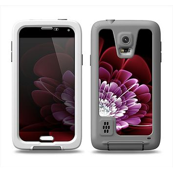 The Glowing Abstract Flower Samsung Galaxy S5 LifeProof Fre Case Skin Set