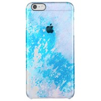 cool blue deflector cases abstract splash art uncommon clearly™ deflector iPhone 6 plus case