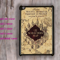 Harry Potter Marauder's vintage map,ipad Air case,christmas,iPad Mini case,iPad 2 case,iPad 5 case,New iPad case,ipad 3 case,ipad 4 case
