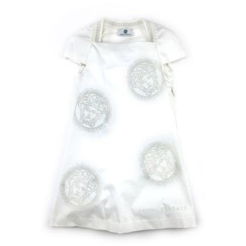 Versace Girls White Medusa Dress