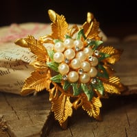 Sunflower Brooch #5032