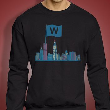 Chicago Cubs Baseball Flying The W Men'S Sweatshirt