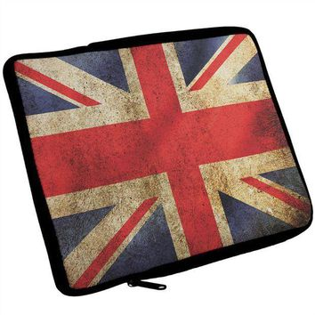 PEAPGQ9 British Flag Union Jack Grunge Artist's Journal Travel Bag
