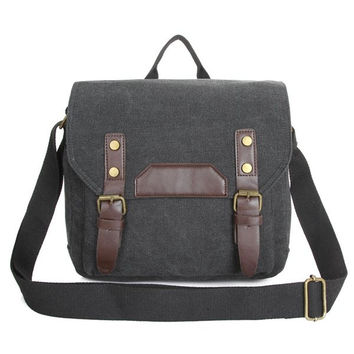 Men Canvas Crossbody Bag Women Unisex Shoulder Bag Messenger Bag