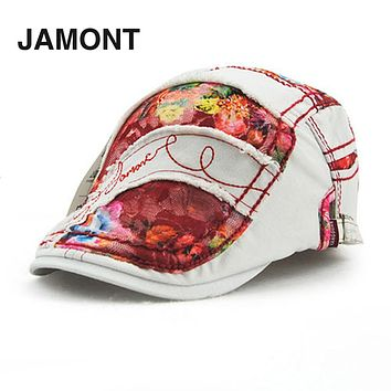 JAMONT Women Ladies Korean Style Baseball Cap Graffiti Lace Type Spring Summer Cotton SunShade Baseball Caps Hats 2016 Hot Sale