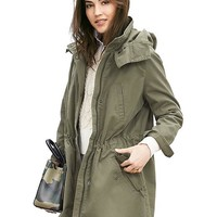Banana Republic Womens Military Parka