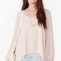 Phoebe Split Top - Blush